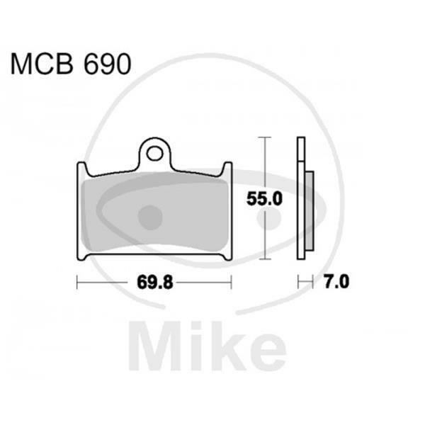 TRW Lucas Brake Pads MCB690