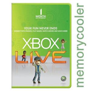1 MES Live GOLD SUBSCRIPCIÓN Tarjeta Prepago Xbox 360 / Xbox ONE ESPAÑA