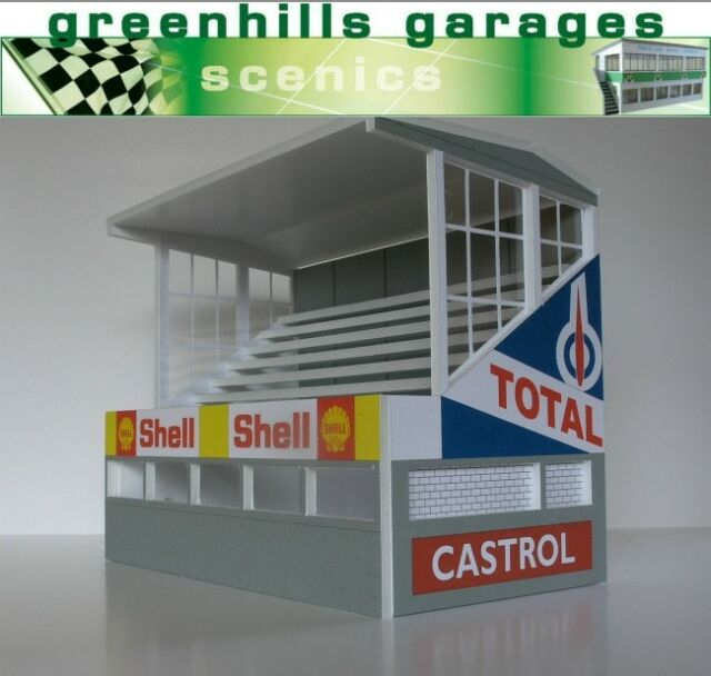 Greenhills Scalextric Slot Car Building Reims Grandstand Kit 1:32 Scale - New...