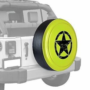 Oscar Mike Star Painted Tire Cover Jeep Wrangler
