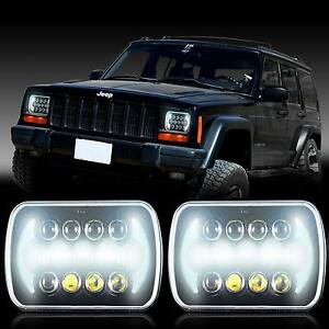 Projector 5x7 Led Headlight Replacement For Jeep Cherokee Xj Yj