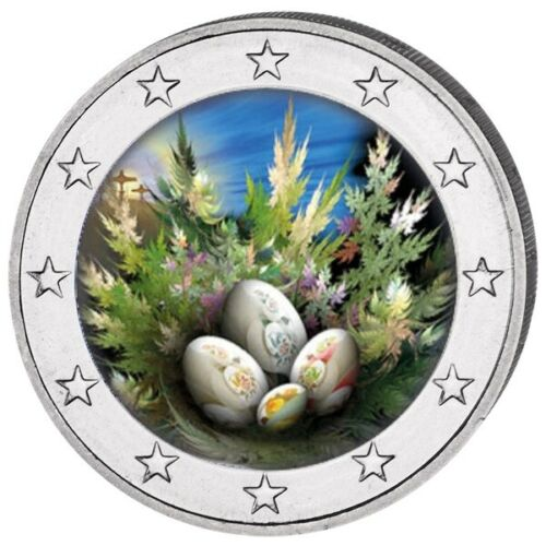 EASTER EGGS COLORED COIN 2 EURO WITH OGP 2018