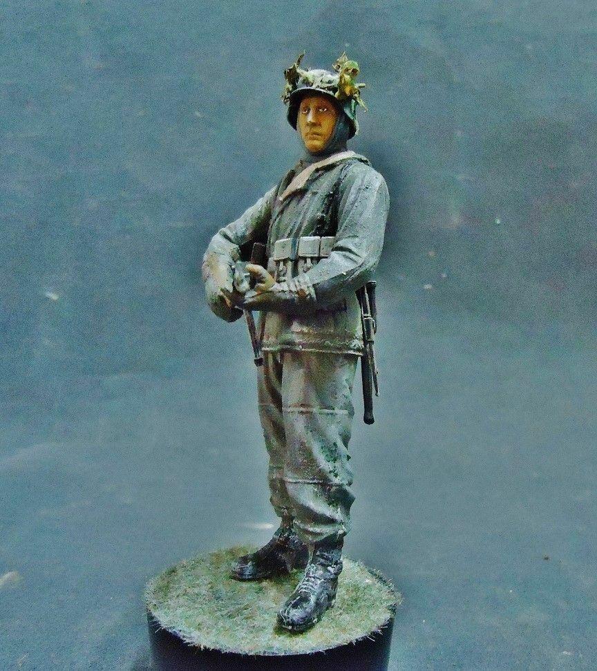 1 16 vignette winter PRO BUILT DIORAMA BASE figure german WW2 build 1 35 1 32