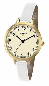 Limit-Ladies-Classic-Watch-Cream-Dial-Thin-White-Strap-6230
