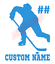 Custom-Hockey-Player-Number-Name-Vinyl-Decal-Window-Sticker-Car thumbnail 7
