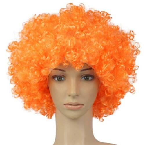 Afro Perücke Locken Haare Clown Hippie Cosplay Faschings Karneval Party Kostüme