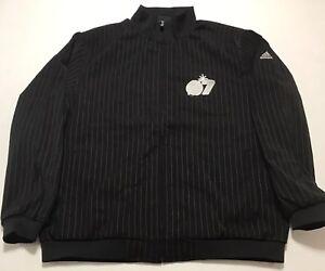 Adidas Las Vegas Basketball NBA All Star Game 2007 Pinstripe Jacket Size L Black