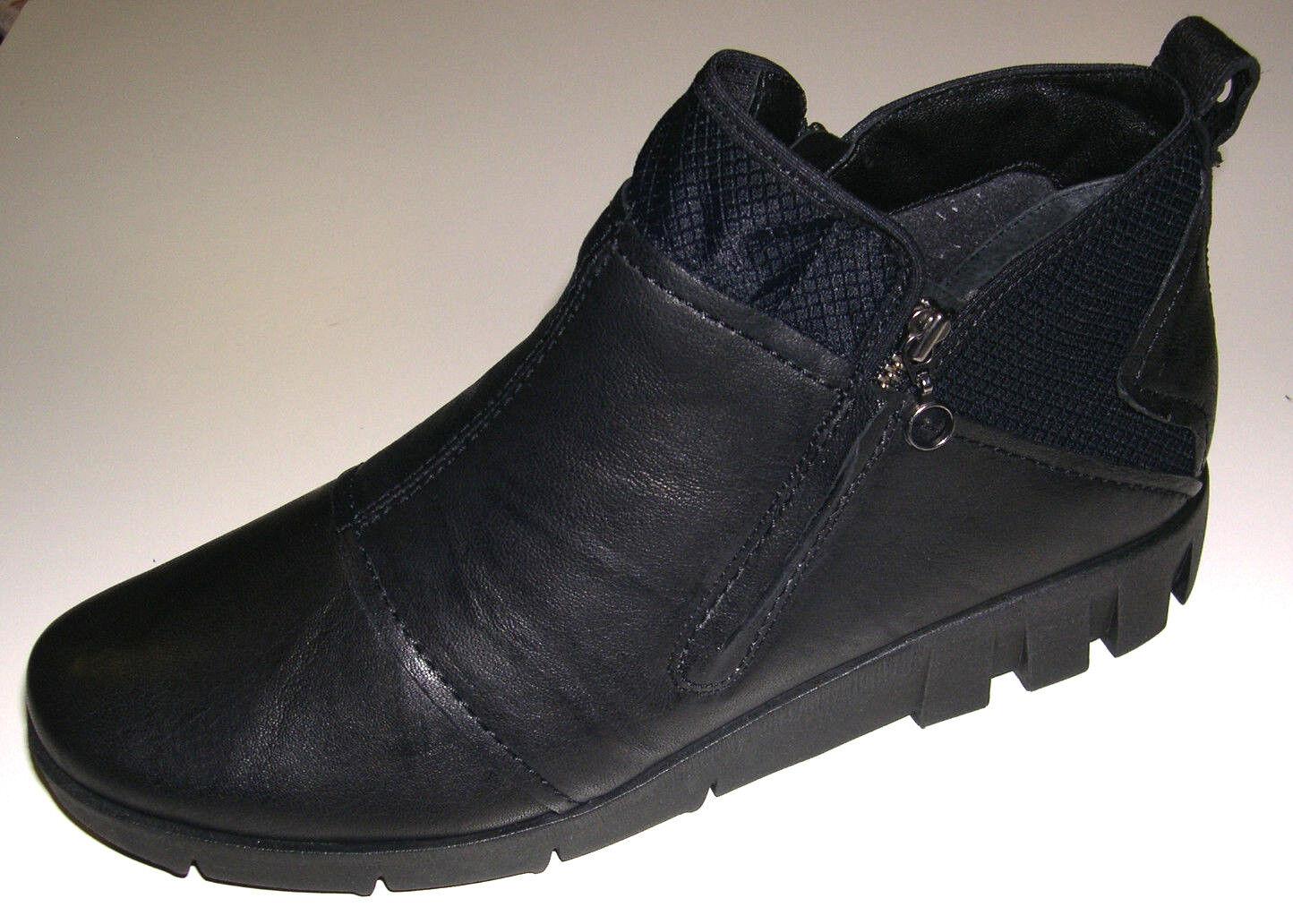 Softwaves zapatos señora botas botín botas 6.94.14, negra, cuero