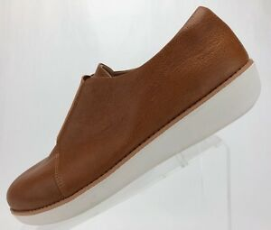 2bf386da8c3e Image is loading FitFlop-Loafers-Laceless-Derby-Brown-Leather-Casual-Slip-