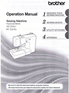 Details About Brother Xr3140 Xr3240 Sewing Machine Users Guide Owners Instruction Manual Book