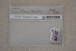 Zutter-Bind-It-All-clear-acrylic-covers-3-034-x4-034-mini-books-journal-albums