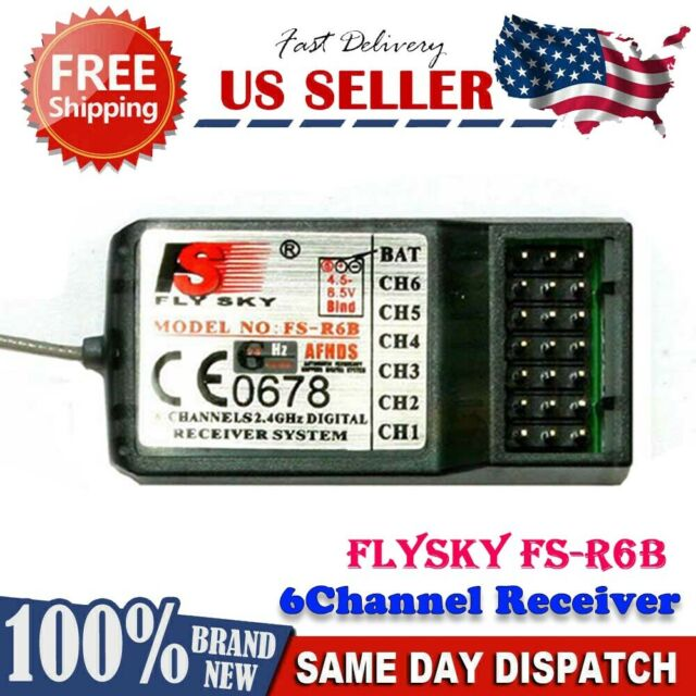 New FlySky FS-R6B 2.4G 6CH AFHDS Digital Receiver for FS-CT6B FS-T6 Transmitter