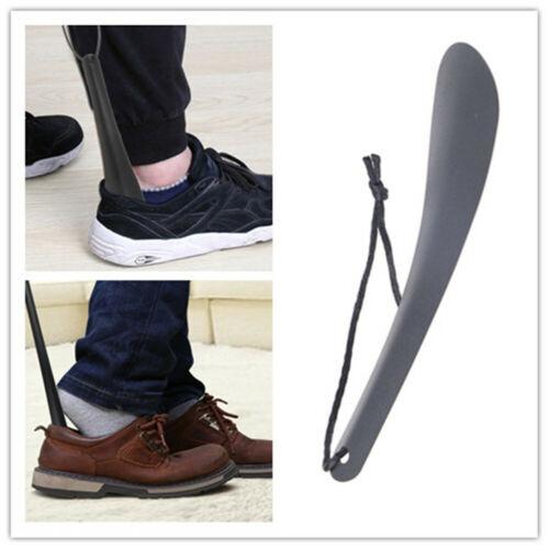 Shoe Horns Professional Black Stainless Steel Shoe Horn Spoon Shape Shoehorn Hot