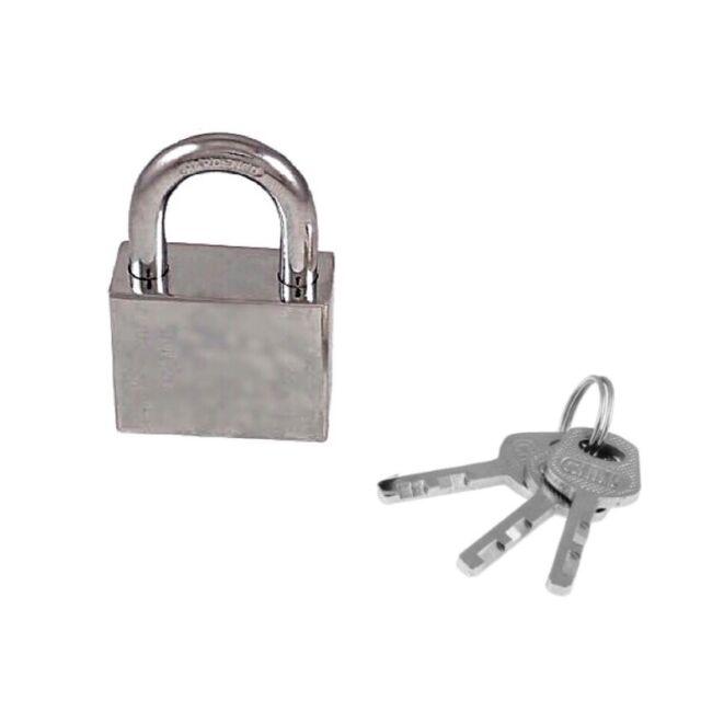 40MM SOLID METAL WATERPROOF PADLOCK PAD LOCK WITH 2 KEYS STRONG SECURE DURABLE
