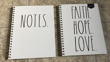 Rae Dunn Faith Hope Love Notes Spiral Notebooks 176 Lined Pages 11 X 9 Lot Of 2