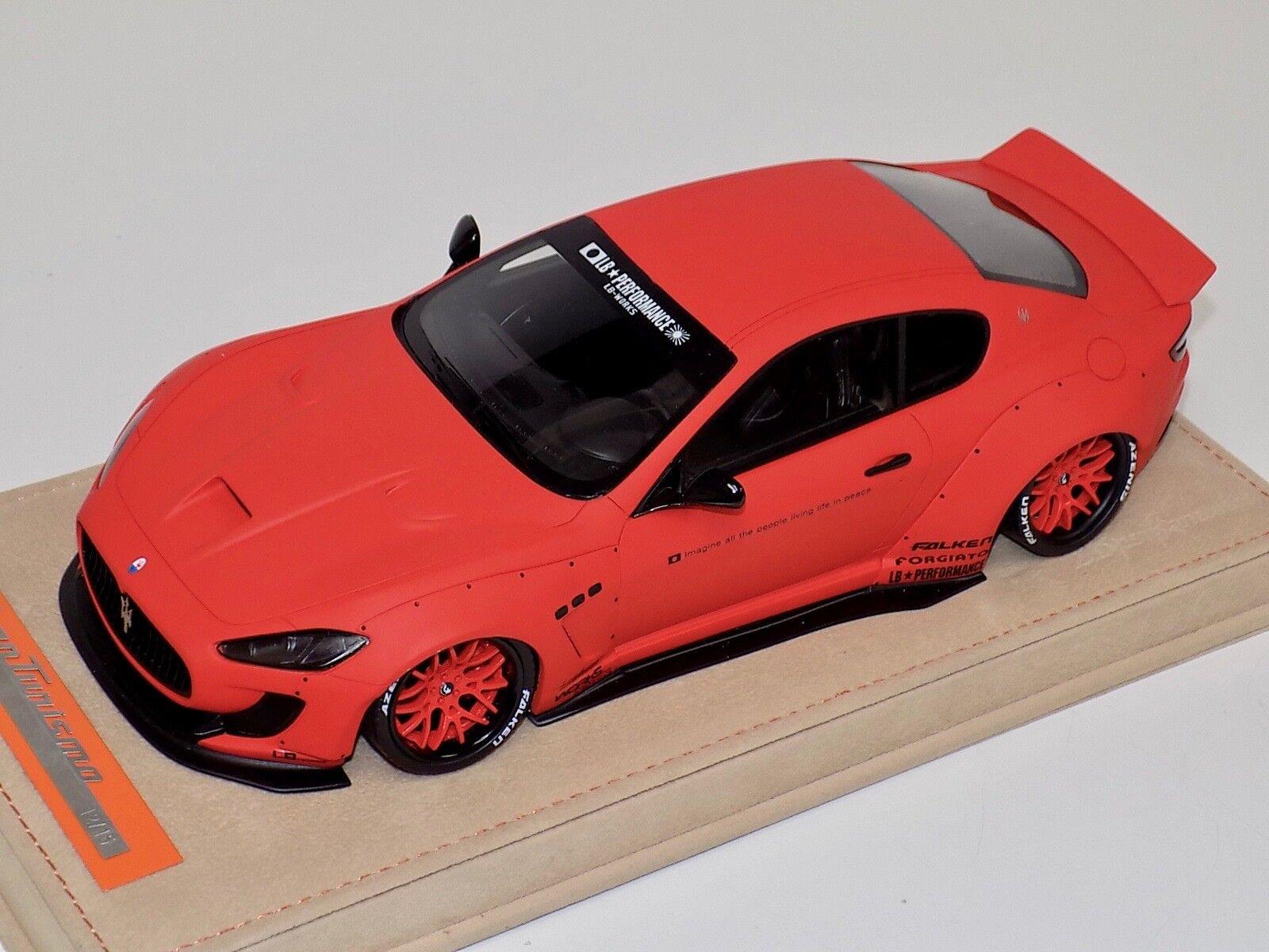 Modelos Maserati GranTurismo Liberty AB caminar mate, naranja de Cromo Alcantara un