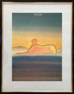 JEAN-MICHEL-FOLON-1934-2005-AFFICHE-ANCIENNE-SERIGRAPHIE-LONDON-1977-9