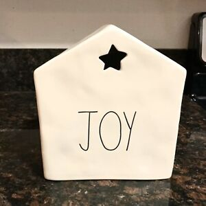 New-Rae-Dunn-Christmas-Joy-House-With-Star-Holiday-2019-LL-New-Release