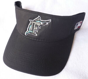 2bbcc5c5e96 Image is loading FLORIDA-MARLINS-MLB-BLACK-THROWBACK-VINTAGE-VISOR-CAP-