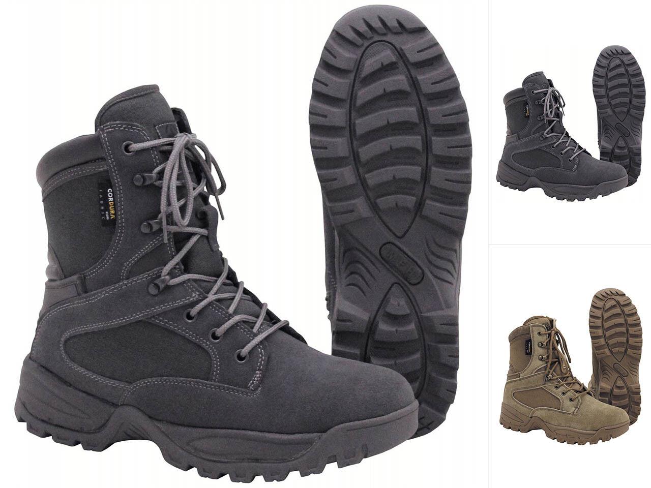 MFH Scarponcini Stivali missione 39-47 GRIGIO Coyote Scarponcini MFH Trekking Scarpe Outdoor Boots e42013