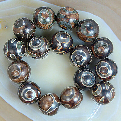Spot Tibetan Mystical Old Agate Eye Gemstone Beads 8,10,12,14mm Pick Size