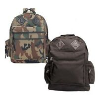 Rothco 2334/2330/2232 Deluxe Water Resistant Day Pack - Woodland Camo/black