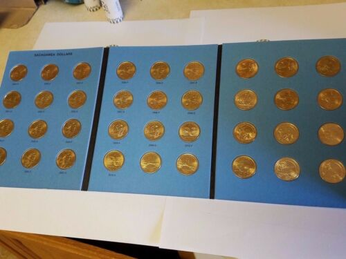 Circulated Vol 2 Complete Set P/&D 2012-2016 Presidential $1 Gold Dollar 38 Coins
