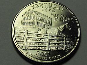 2001 P/&D Kentucky Statehood Quarter Dollar Coin Set