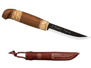 Details about MARTTIINI FINLAND KIERINKI KNIFE / CARBON STEEL ** LEATHER  SHEATH **