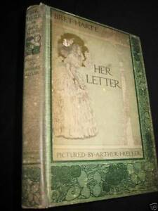 1st-Edition-HER-LETTER-Bret-Harte-ANTIQUE-First-Printing-CLASSIC