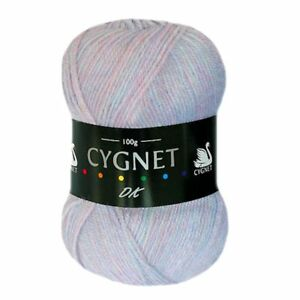Cygnet-DK-MOTHER-OF-PEARL-Wool-Double-Knitting-Yarn-100g-Acrylic-MULTI-OFFER
