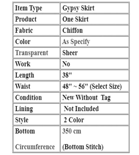 Belly Dance Ankle Length Skirt Bohemia skirt Half Circle Skirt Plus Size C1