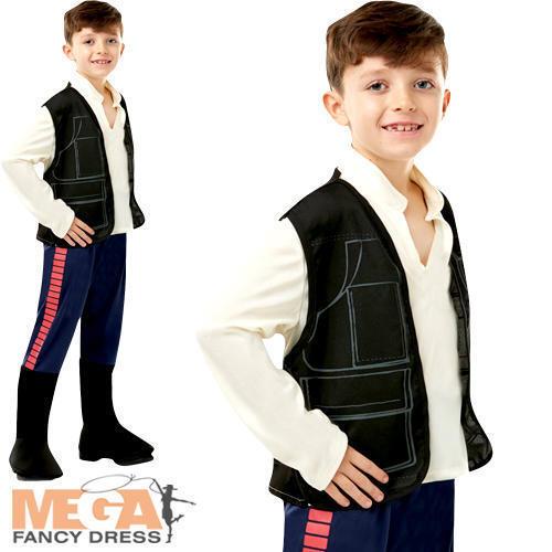 Han Solo Ragazzi Costume Star Wars Film Pellicola scifi eroe Bambino Costume Outfit