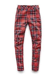Details about Brand New G Star Elwood X25 Royal Tartan Print Boyfriend Women's Jeans W26 L30
