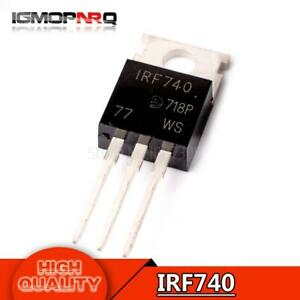 10PCS IRF740PBF IRF740 10A 400V 125W N-Channel Field effect transistor TO-220
