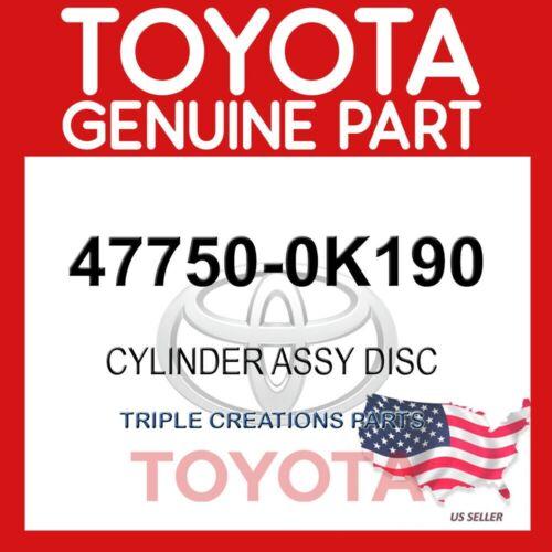GENUINE Toyota 47750-0K190 CYLINDER ASSY LH 477500K190 OEM DISC BRAKE