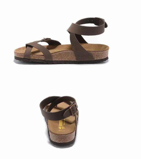 BIRKENSTOCK Yara Women's Sandals Colour: Brown white Birko Flor Regular