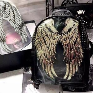 1Pair-Decor-Angel-Wings-Sequins-Applique-Motif-Iron-On-Embroidered-Patch