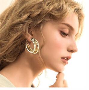 New-Fashion-Large-Circle-Geometry-Metal-Earring-Ear-Stud-Earrings-Women-Jewelry