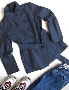 Akris Punto Deep Blue Trench/ Coat/ Jacket/ Blazer