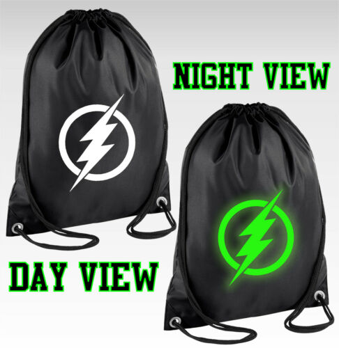 FLASH Logo GLOW IN THE DARK coulisse Borsa DC Comics Kit PE Scuola Zaino