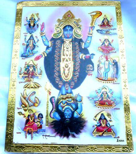91 BILD KALI Hinduismus Prägedruck INDIEN Altarbild Vorlage Tattoo