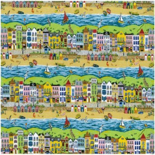 Fat Quarter Seaside Promenade Cotton Quilting Sewing Fabric