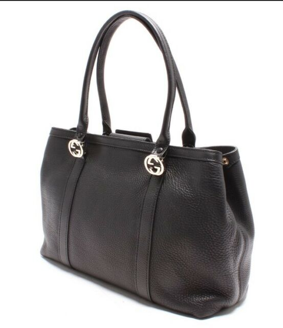 f82abc52d14 Gucci Signature Leather Tote (black Leather) for sale online