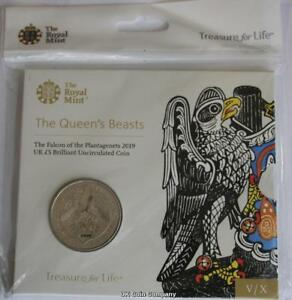 2019-Queens-Beasts-Falcon-Of-Plantagenets-BU-5-Five-Pound-Royal-Mint-Coin-Pack