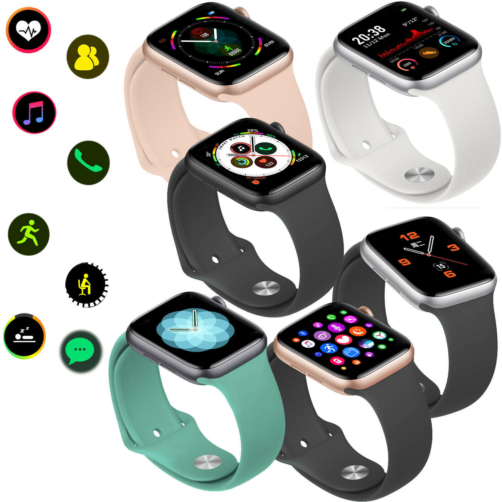 Men Lady Smart Watch Bluetooth Call Heart Rate Monitor Wristband For Android Ios bluetooth call Featured heart lady men monitor rate smart watch wristband