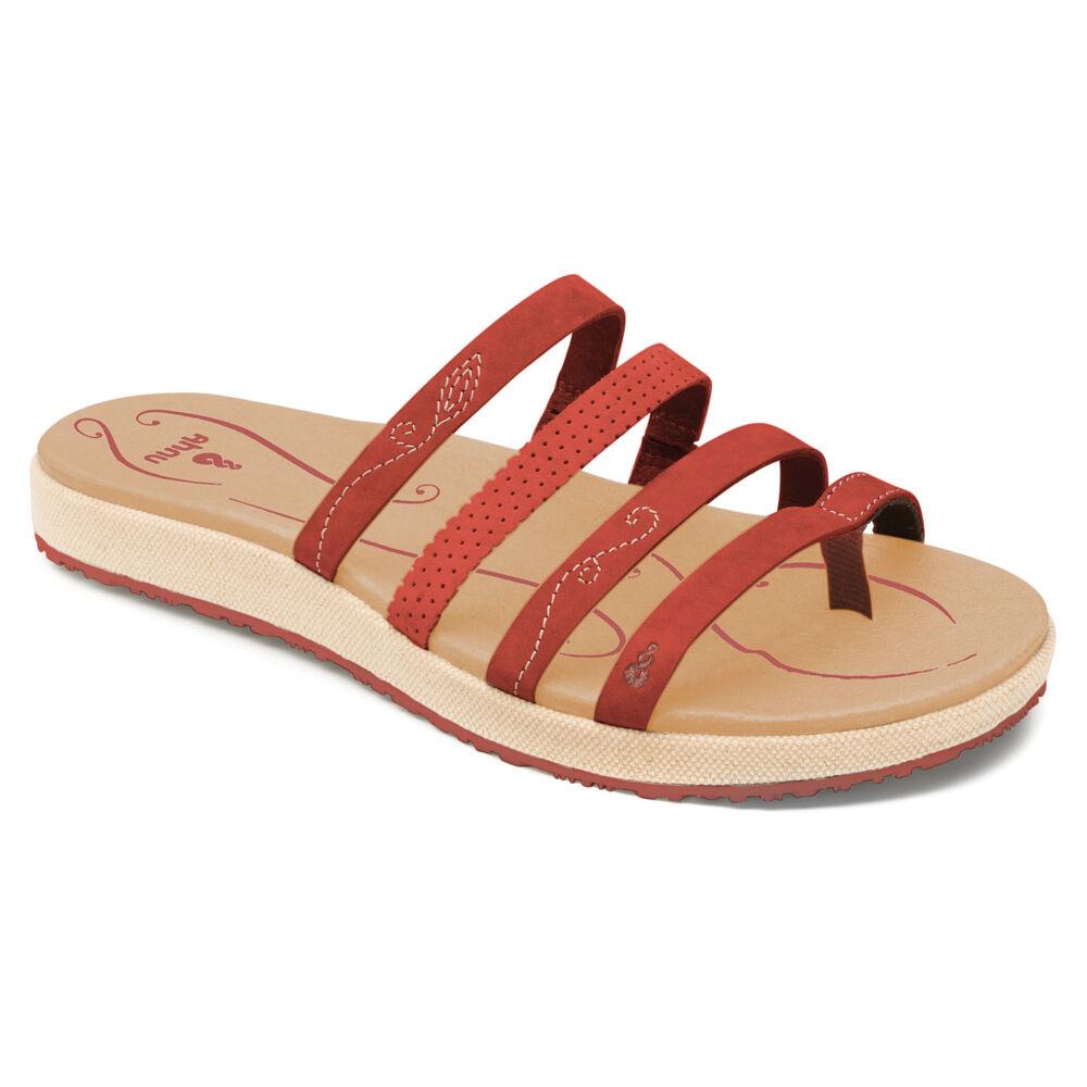 NEU Ahnu Iris 2 SANDALS Schuhe FLIP FLOPS Orange 9 40 Leder Upper Strappy