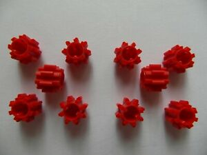 8x Lego Technic NEU Zahnrad 16 Zähne Kupplung beide Seiten 18946 rot 6100930 NEU