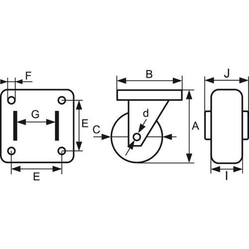 Roulette Drill à platine fixe Charge Utile 40 Kg M.P.R POINT M