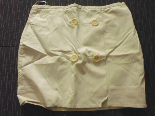 LADIES CREAM FRONT BUTTON FASTENING COTTON MINI SKIRT BY COUNTRY ROAD SIZE 10